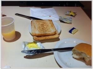 イギリスで泊まったホテルの朝食