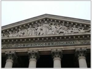 マドレーヌ寺院彫刻アップ
